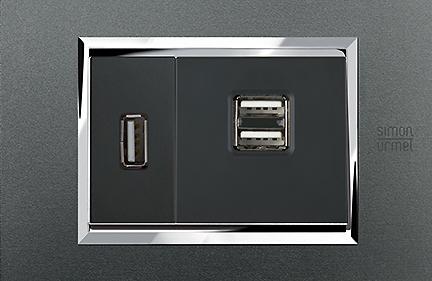 Prese USB 2.1A e 1.2A